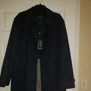 Navy Lauren Ralph Lauren Weatherby Rain Coat.